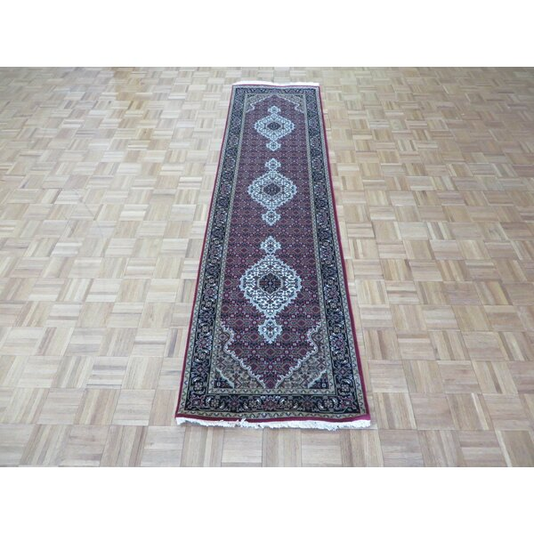 One-of-a-Kind Rhyne Hand-Knotted Red Area Rug by Astoria Grand