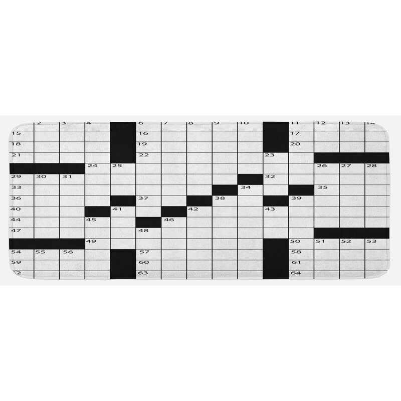 East Urban Home Blank Newspaper Style Crossword Puzzle With Numbers In Word Grid Black And White Kitchen Mat Wayfair