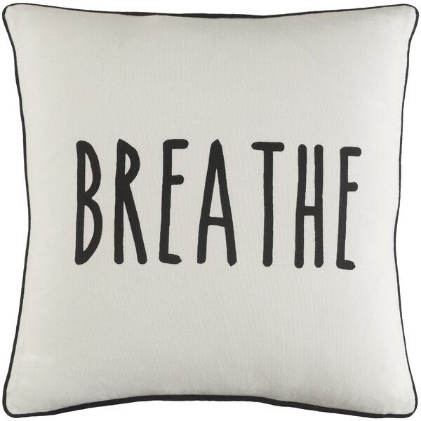 Carnell Breathe Cotton Throw Pillow by Mercury Row