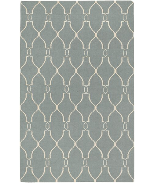 Findley Sky/Ivory Area Rug by Darby Home Co