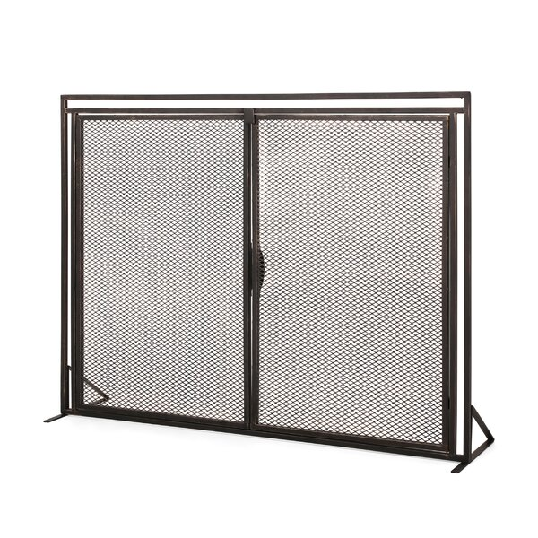 Beluga 1 Panel Iron Fireplace Screens By Home Loft Concepts