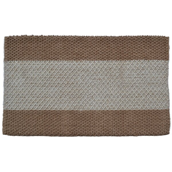 Wide Brown/Grey Stripes Area Rug by Imports Decor