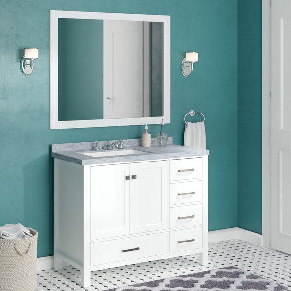 Marine 42 Single Bathroom Vanity Set with Mirror by Andover Mills