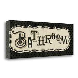 'Room Signs II Bathroom' Textual Art on Wrapped Canvas by Tangletown Fine Art