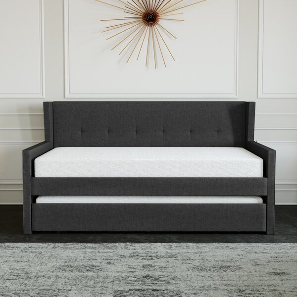 Calpurnia Cara Upholstered Twin Daybed With Trundle By Latitude Run