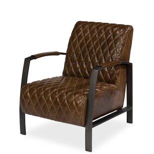 Diamond Quilt Lobby Armchair  by Sarreid Ltd