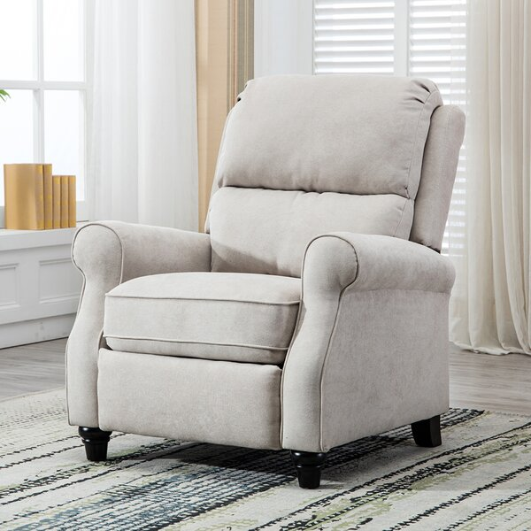 Ferebee Pushback Roll Arm and Easy to Push Mechanism Manual Recliner [Winston Porter]