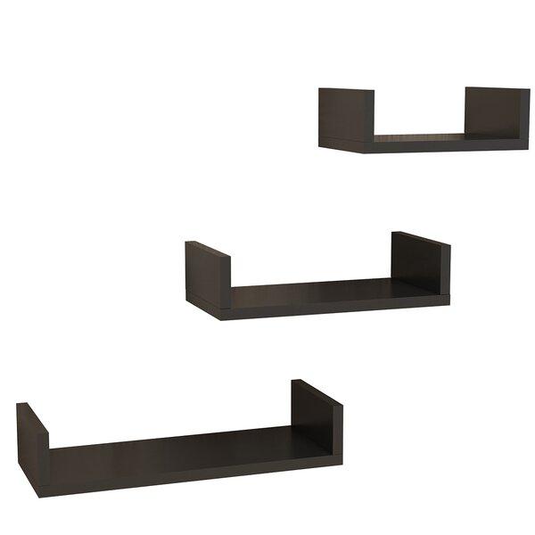 Aradhya Modern 3 Piece Wall Shelf Set by Latitude Run