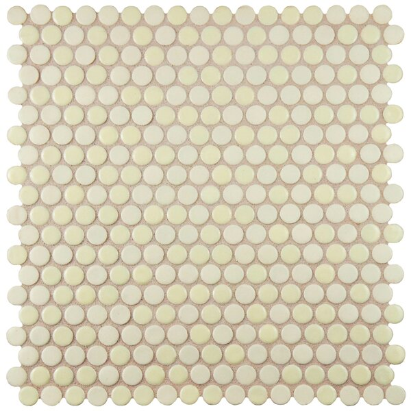 Astraea 0.62 x 0.62 Porcelain Mosaic Tile in Almond by EliteTile