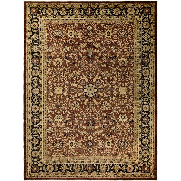 Badham Hand-Knotted Wool Brown/Navy Area Rug by Bloomsbury Market