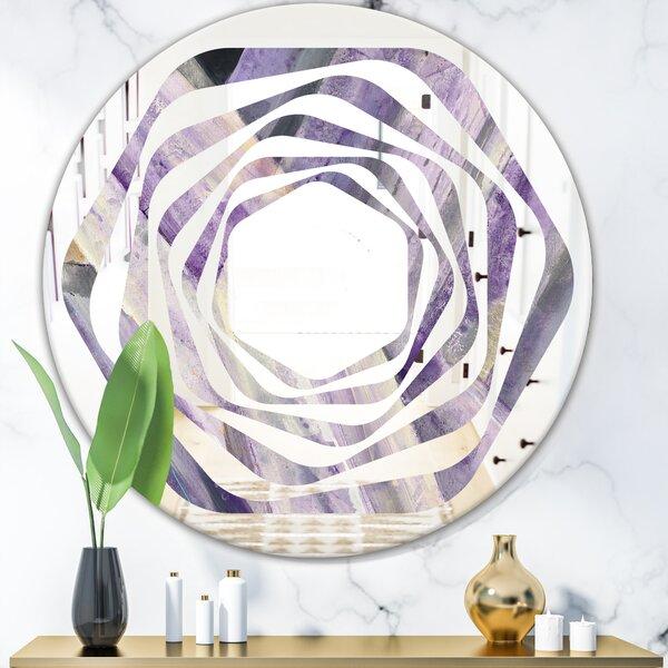 Whirl Geometric Glacier Modern Frameless Wall Mirror