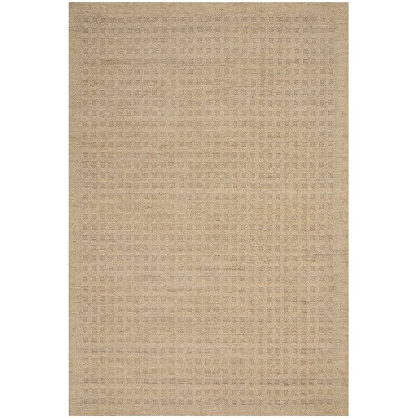 Dove Hand-Woven Wool Taupe Area Rug by Highland Dunes