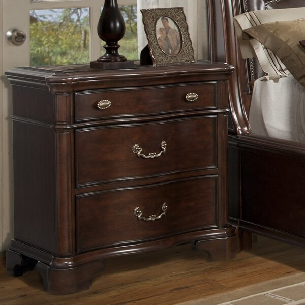 Alanya 3 Drawer Nightstand by Astoria Grand
