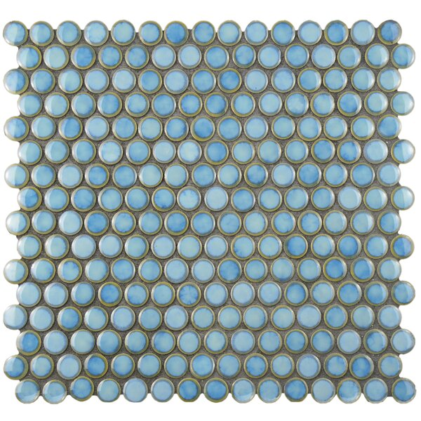Penny 0.8 x 0.8 Porcelain Mosaic Tile in Marine by