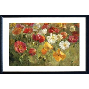 'Poppy Field' Framed Graphic Art Print by Red Barrel Studio