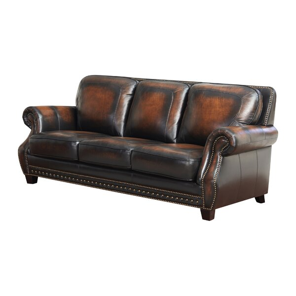Cletus Leather Sofa by Canora Grey