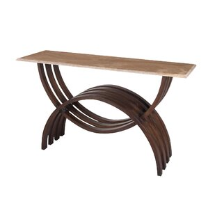 Beauvais Curved Console Table by Bloomsbury Market