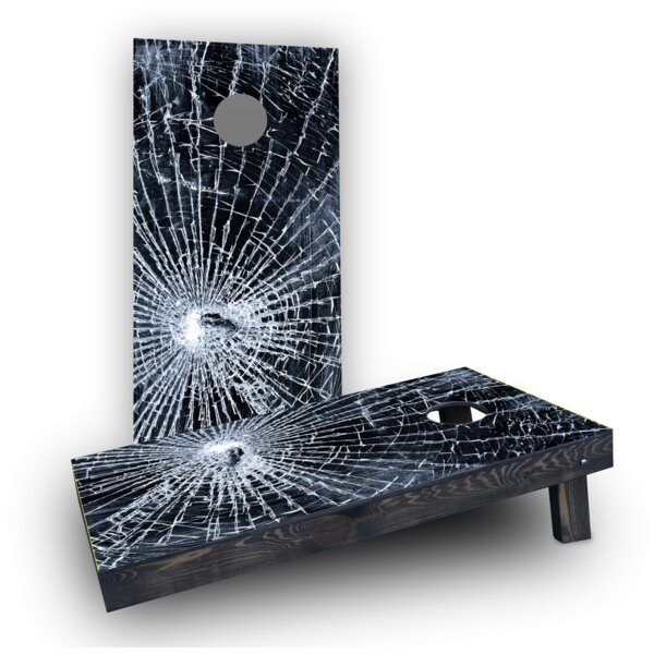 Broken Glass Cornhole Boards (Set of 2) by Custom Cornhole Boards