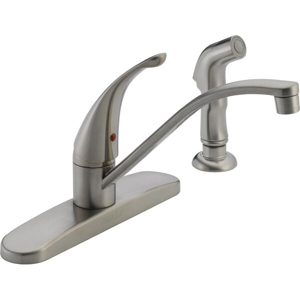 Single Handle Centerset Kitchen Faucet with Side Spray by Peerless Faucets Peerless Faucets