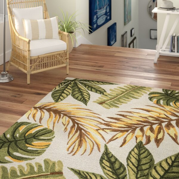 Minnie Hand-Tufted Sage Area Rug by Beachcrest Home
