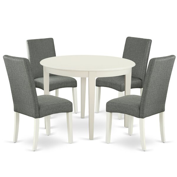 Geralyn 5 Piece Solid Wood Dining Set by Alcott Hill