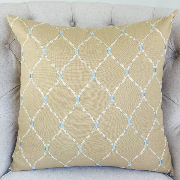 Dewdrop Handmade Throw Pillow by Plutus Brands