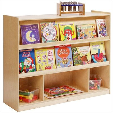 Double Sided 5 Compartment Bookshelf by Angeles