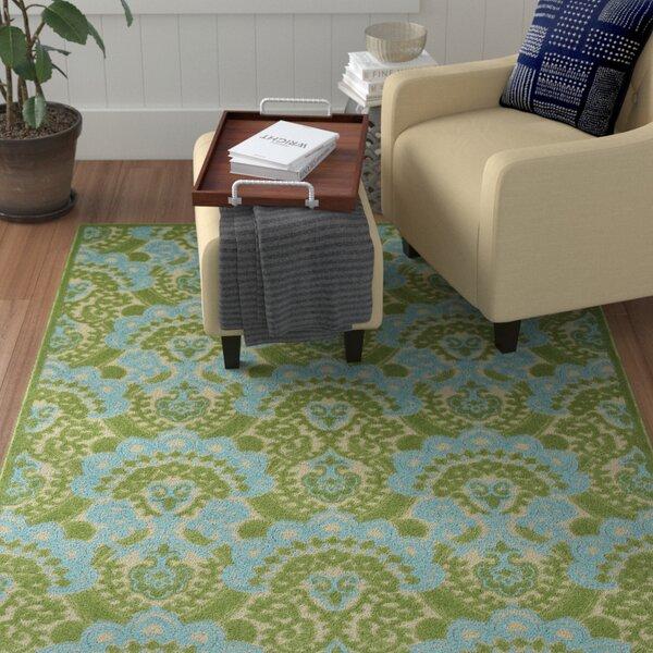 Lewis Green Indoor/Outdoor Area Rug by Winston Porter
