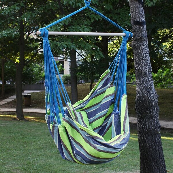 Biron Green Stripe Chair Hammock by Latitude Run
