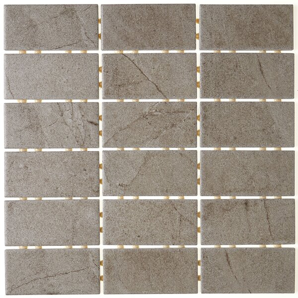 2 x 4 Ceramic Mosaic Tile in Gray by Itona Tile