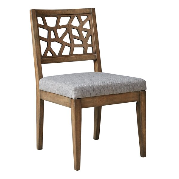 Blumer Crackle Side Chair (Set of 2) by World Menagerie