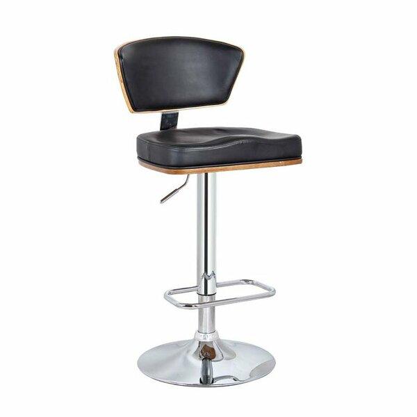 Bublitz Adjustable Height Swivel Bar Stool by Orren Ellis