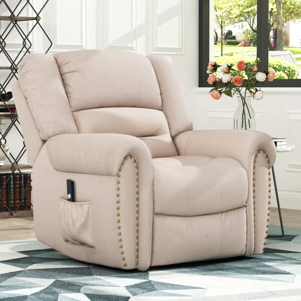 Allurine Heavy-Duty Power Recliner with Built-In Remote and 2 Castors W003187001