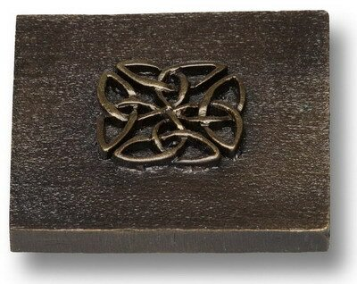 Celtic 2 x 2 Pewter Hand-Painted Tile in Natural Pewter by Premier Hardware Designs