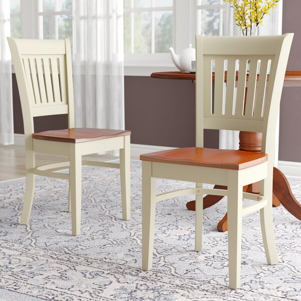 Corcoran Solid Wood Dining Chair (Set of 2) by Alcott Hill