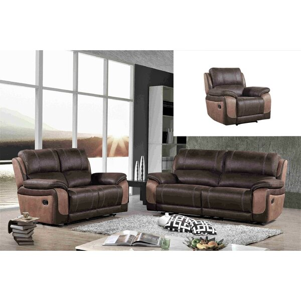 Aston Reclining 3 Piece Living Room Set by Wrought Studio