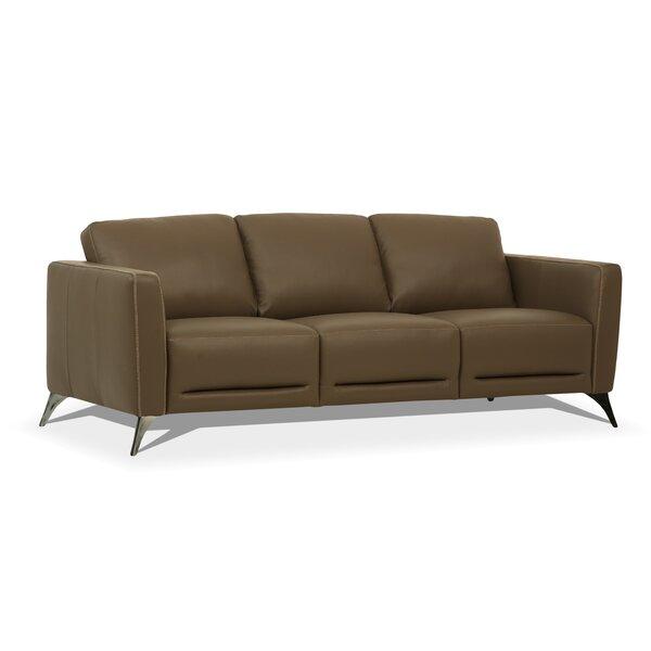 Dossett Leather Sofa By Brayden Studio