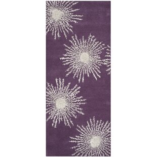 Clearance Chidi Purple & Ivory Area Rug By Ebern Designs