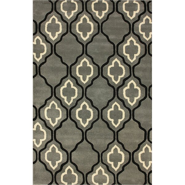 Moderna Hand-Woven Wool Titanium Area Rug by nuLOOM