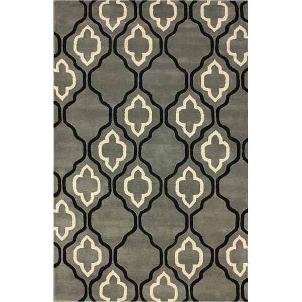 Moderna Hand-Woven Wool Titanium Area Rug by nuLOOM