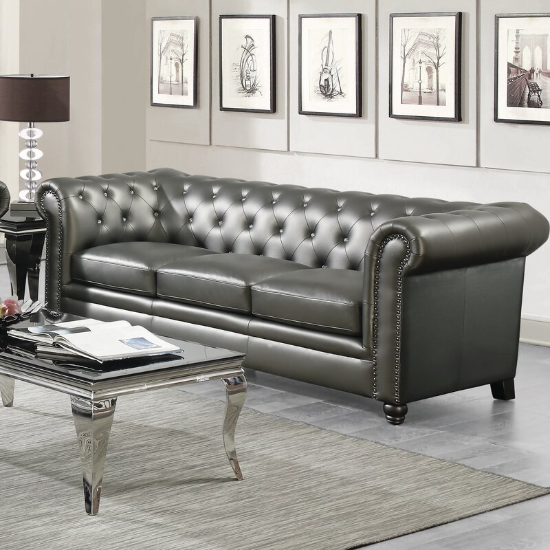 Etonnant Vanallen Leather Chesterfield Sofa
