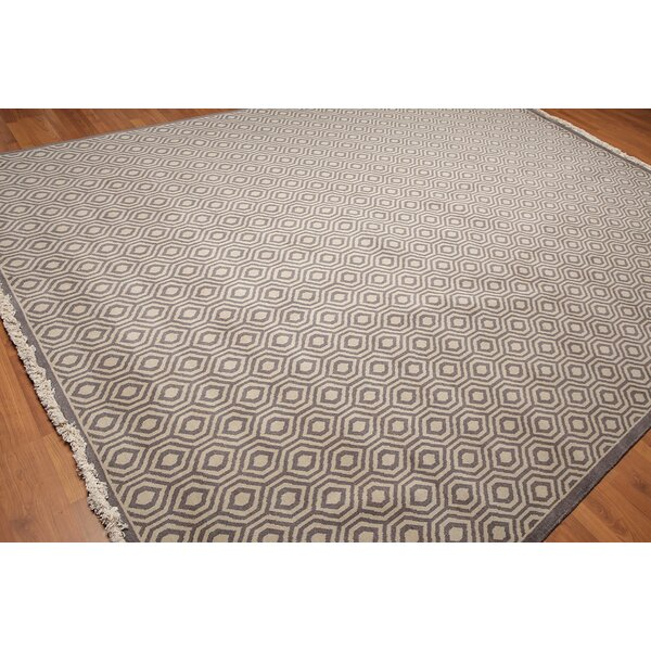 One-of-a-Kind Draeger Pile Hand-Knotted Wool Light Gray Area Rug by Corrigan Studio