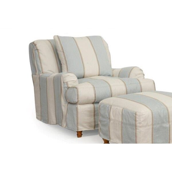 Seacoast T-Cushion Armchair Slipcover by Sunset Tr