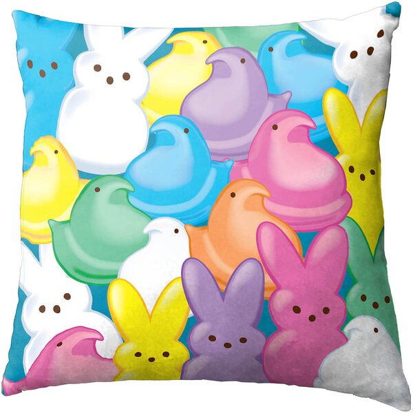 Multi Peeps Decorative Pillow by Disney