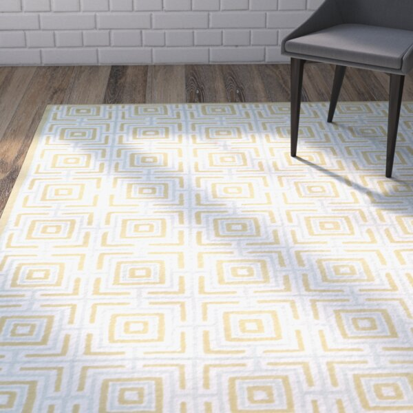 Sheeran Olive/Light Blue Area Rug by Wrought Studio