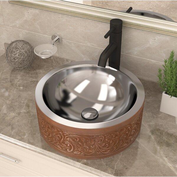 Fleet Metal Circular Vessel Bathroom Sink by ANZZI