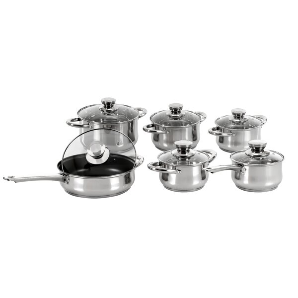 5-Layered Bottom 12 Piece Cookware Set by Concord Cookware