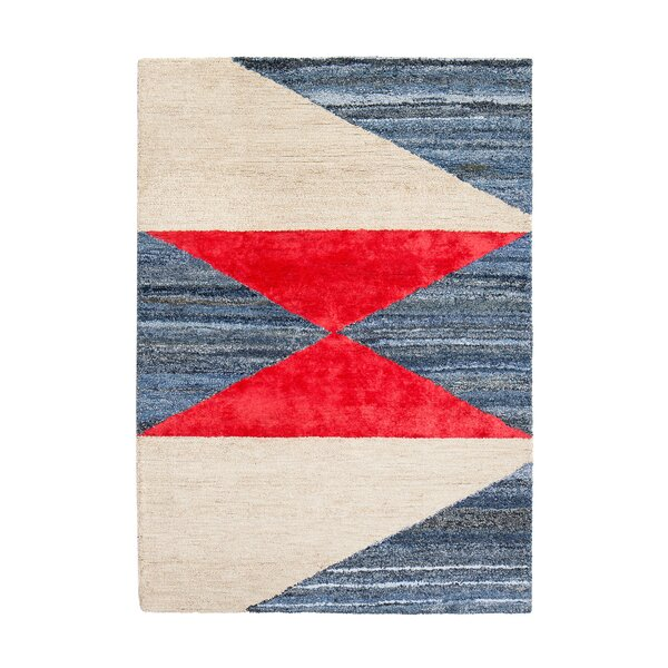 Monadnock Hand-Tufted Blue/Red/Beige Area Rug by Breakwater Bay