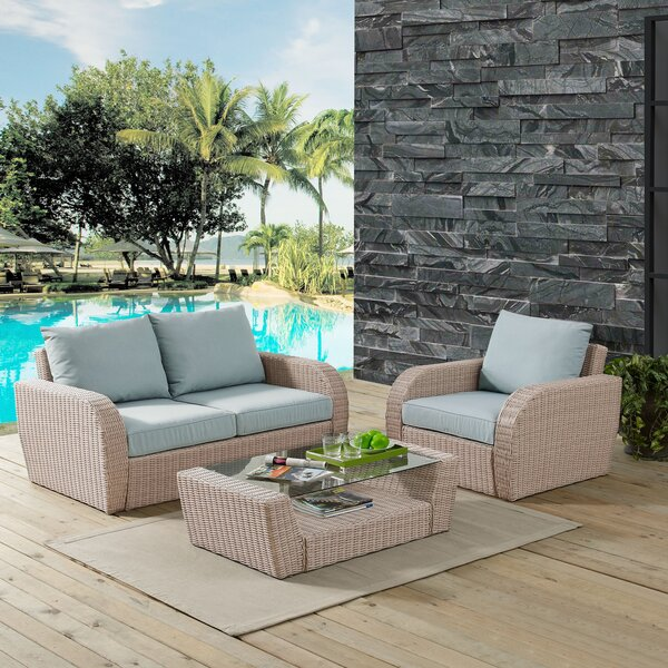 Boomer 3 Piece Sofa Set with Cushions by Highland Dunes