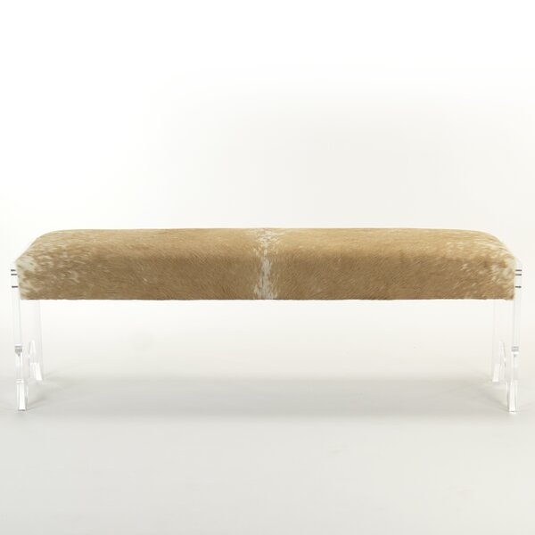 Laster Acrylic Upholstered Bench by Everly Quinn